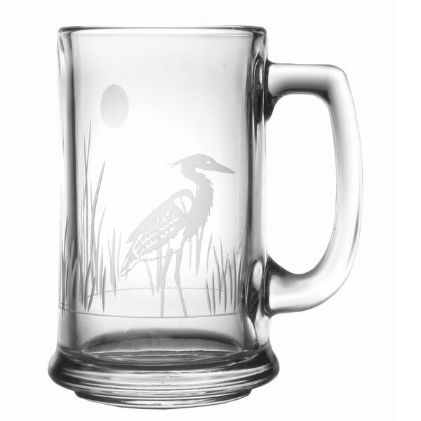 Heron 15 oz. Beer Mug (Set of 4) by Rolf Glass