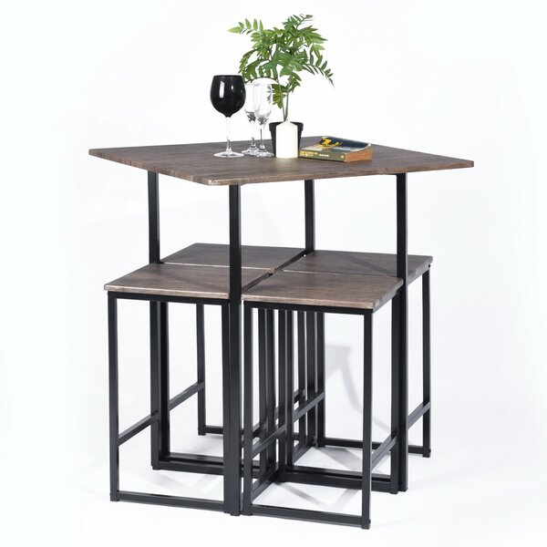 Malave 5 Piece Counter Height Dining Set by Ebern Designs Ebern Designs