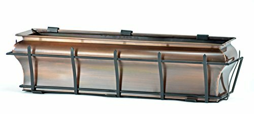 Ogee Flower Stainless Steel Window Box Planter by H. Potter