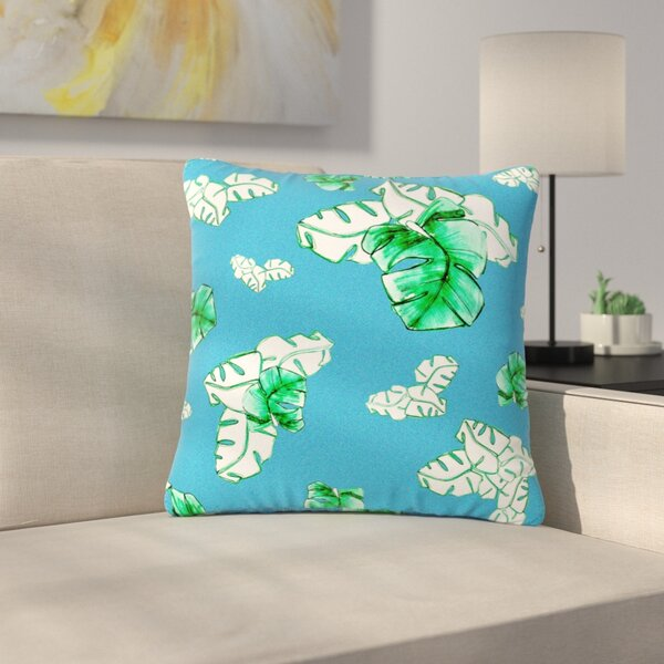 Danii Pollehn Palmtree Outdoor Throw Pillow by East Urban Home
