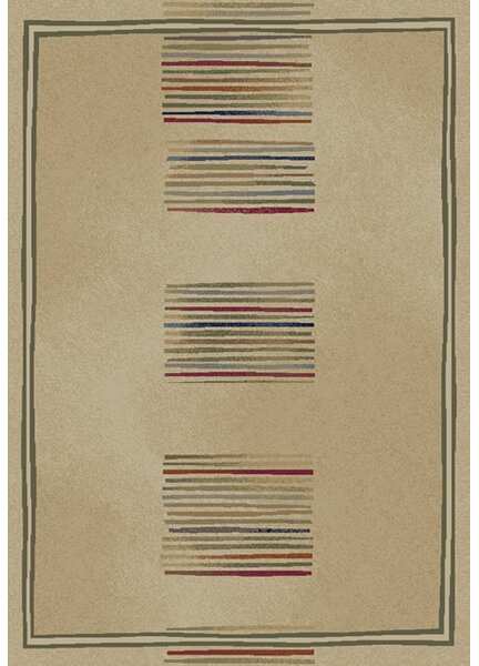 Jewel Ivory Stripes Area Rug by Threadbind