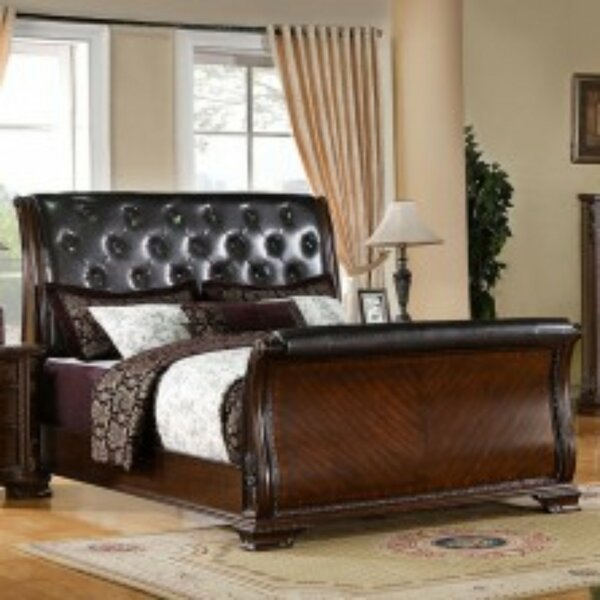 Ronny Luxurious Baroque Upholstered Sleigh Bed by Astoria Grand