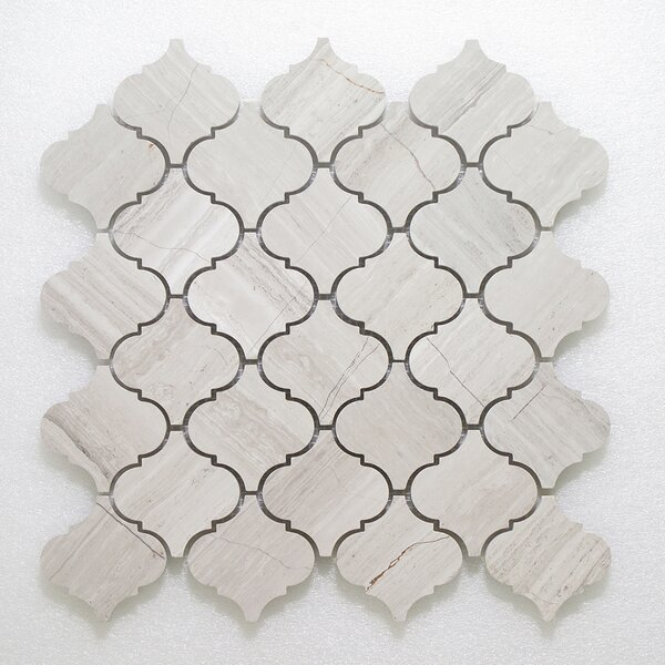 Lanterna Wall 12 x 12 Glass Mosaic Tile in Gray Clear by Seven Seas