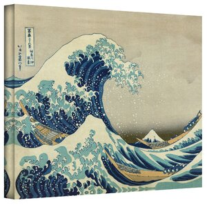 The Great Wave of Kanagawa Painting Print on Canvas by Zipcode Design