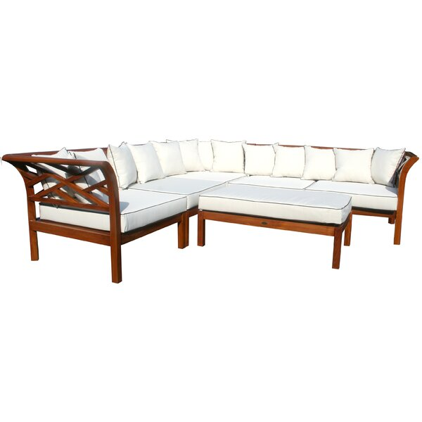 Long Island Teak Patio Sectional with Cushions by Chic Teak Chic Teak