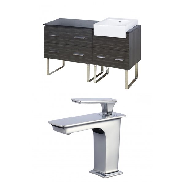 Mulberry Floor Mount 61 Single Bathroom Vanity Set by Royal Purple Bath Kitchen