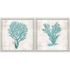 'Under the Sea I and II' by Sabine Berg 2 Piece Framed Graphic Art Print Set by Star Creations