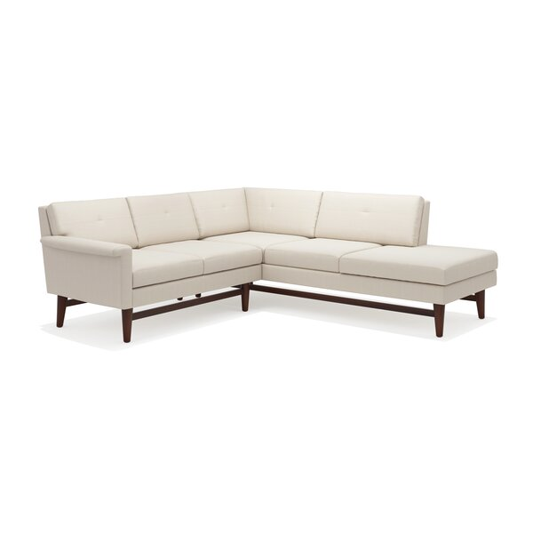 Diggity Corner Sectional Sofa With Bumper By TrueModern