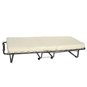 Folding Bed with Mattress by Symple St..