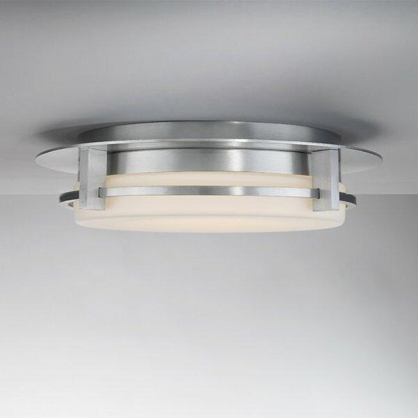 Lippert 1-Light LED Flush Mount by Latitude Run