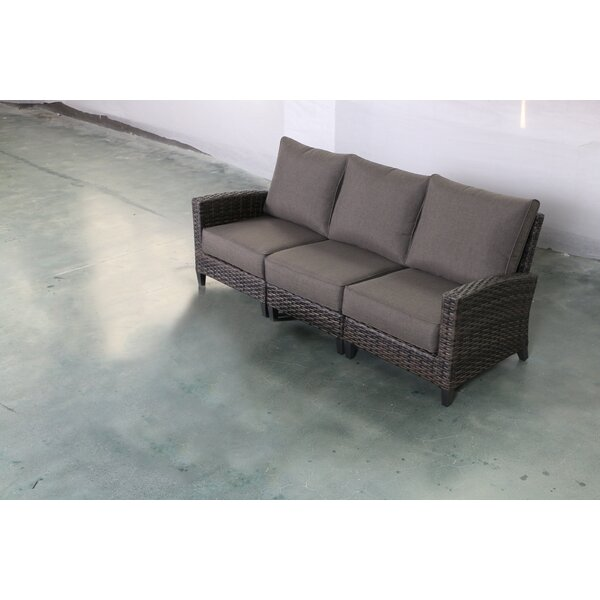 Rebeca Patio Sofa with Cushions by Bayou Breeze