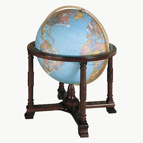 Diplomat Blue Illuminated World Globe by Replogle Globes