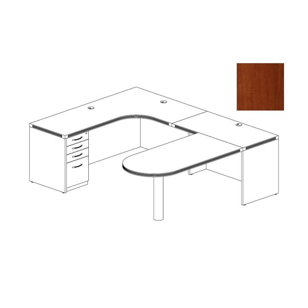 Aberdeen Series U-Shape Executive Desk by Mayline Group