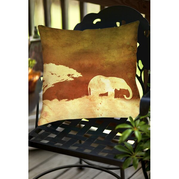 Safari Sunrise 1 Indoor/Outdoor Throw Pillow by Manual Woodworkers & Weavers