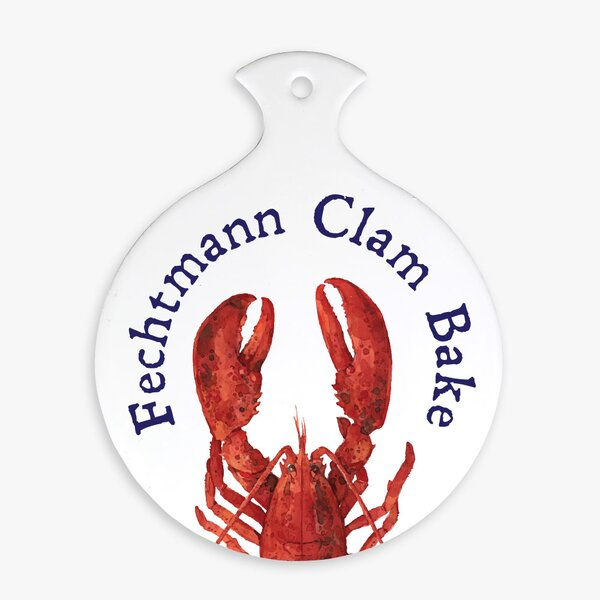 Personalized Custom Clam Paddle-Shaped Trivet by Monogramonline Inc.