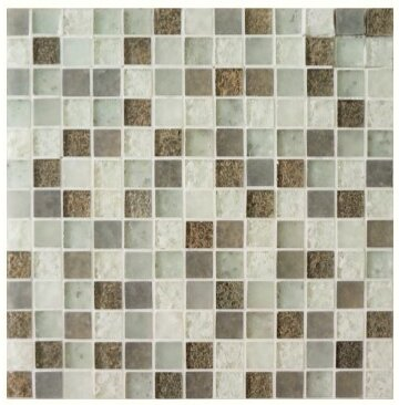 Lakeview 1 x 1 Glass Mosaic Tile in St Barth by Kellani