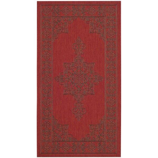 Amedee Red Indoor/Ourdoor Area Rug by Bungalow Rose