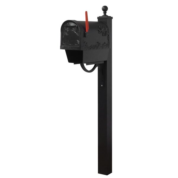 Hummingbird Curbside Locking Mailbox  with Springfield Post Included by Special Lite Products