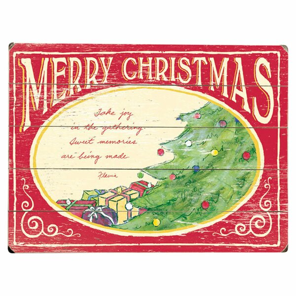 Merry Christmas Graphic Art Multi-Piece Image on Wood by Artehouse LLC