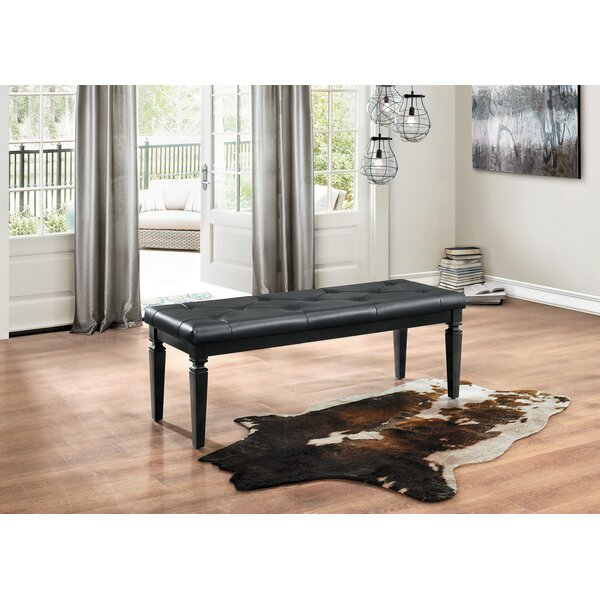 Boden Faux Leather Bench by House of Hampton