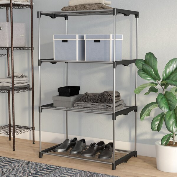 4 Tier 54H x 31.5W x 19.5D Shelving Unit by Rebrilliant
