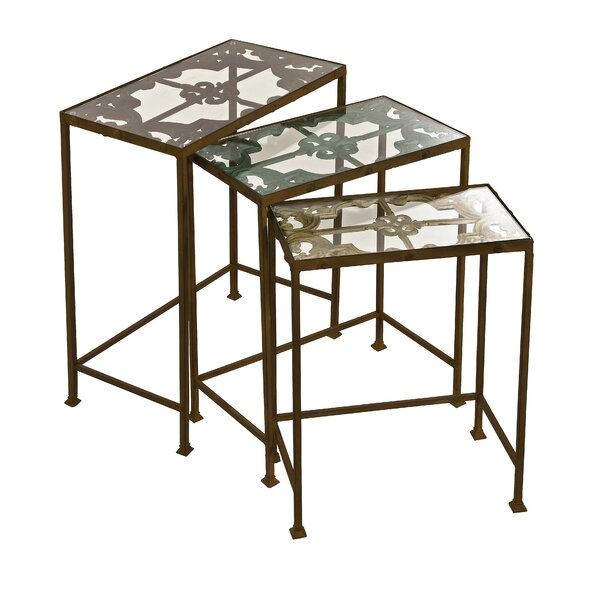 Crosstown 3 Piece Nesting Table Set by Fleur De Lis Living