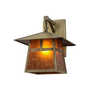 Buying Greenbriar Oak 1-Light Outdoor Wall Lantern By Meyda Tiffany