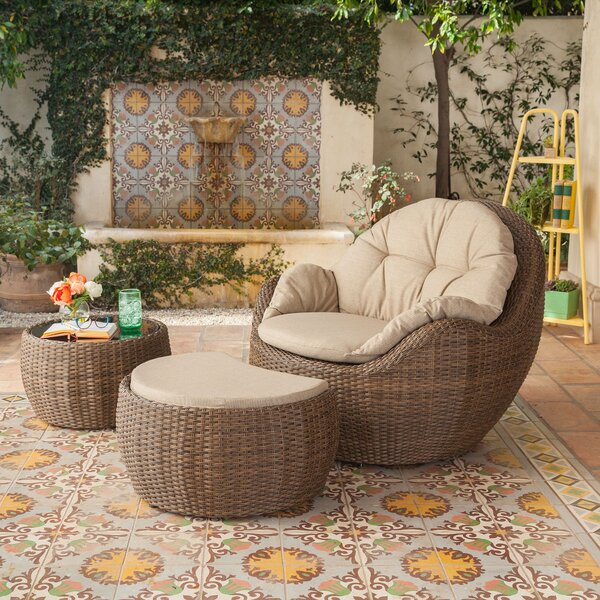 Etheridge 3 Piece with Cushions by Alcott Hill