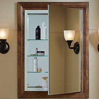 Verdera Aluminun Medicine Cabinet with adjustable Flip Out Flat Mirror, 24 W x 30 H