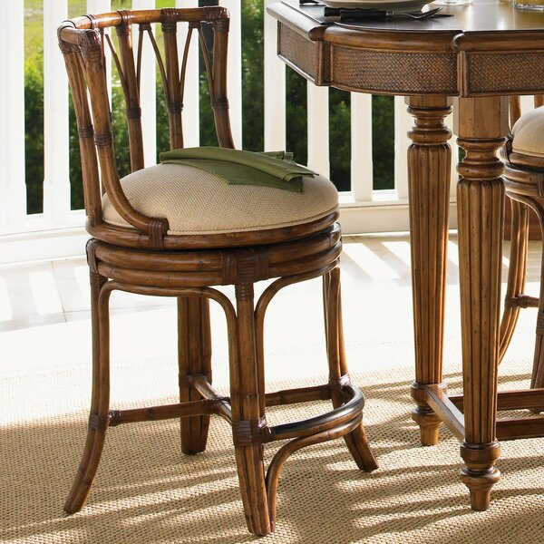 Island Estate 24 Patio Bar Stool with Cushion by Tommy Bahama Home