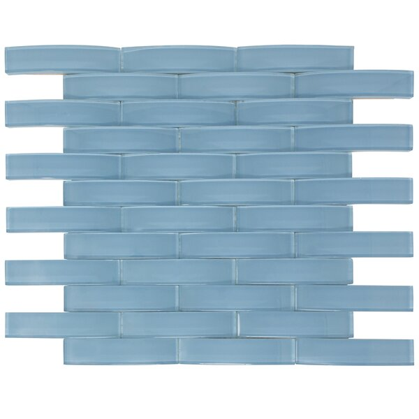 Arched Bridge 3D 1 x 4 Glass Mosaic Tile in Powder Blue by Multile
