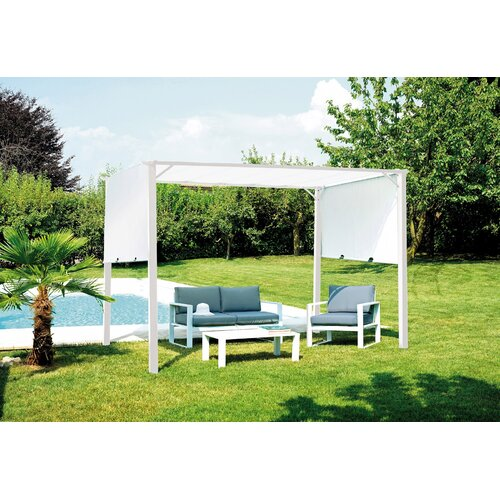 Lowes 3.5m x 2.5m Metal Pergola Sol 72 Outdoor