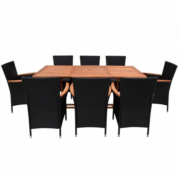 Ellison 9 Piece Dining Set with Cushions by Brayden Studio