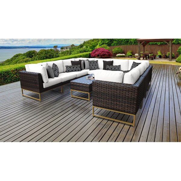 Mcclurg 11 Piece Sectional Seating Group with Cushions by Darby Home Co