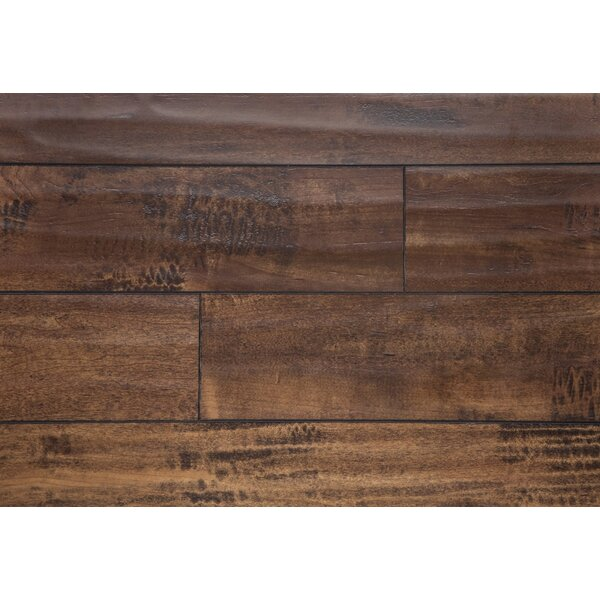 5 x 48 x 12mm Oak Laminate Flooring in Saddle by Chic Rugz