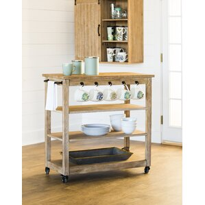 Kien Wooden Rolling Bar Cart by Gracie Oaks