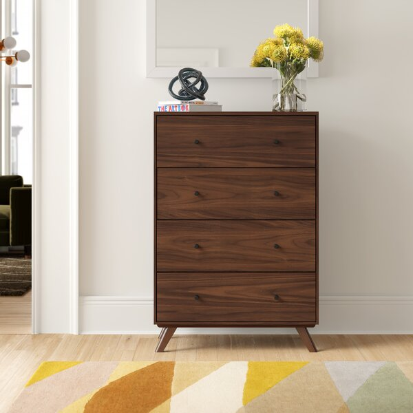 Rodney Mid-Century 4 Drawer Chest by Foundstone