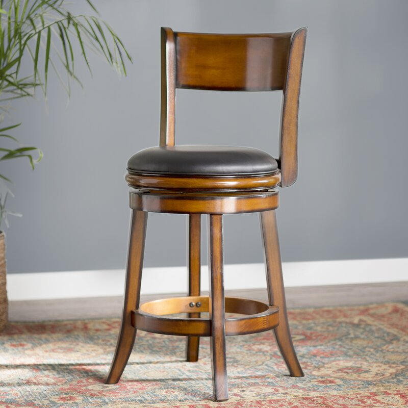 Shiloh 24  Swivel Bar Stool & Alcott Hill Shiloh 24