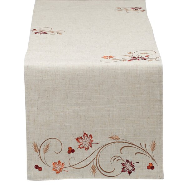 Bessie Autumn Wheat Table Runner by Alcott Hill