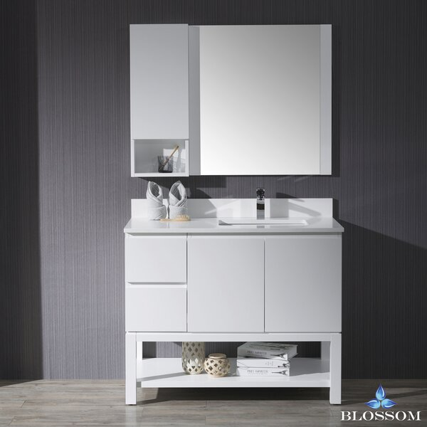 Maly 42 Single Bathroom Vanity Set with Mirror by Orren Ellis