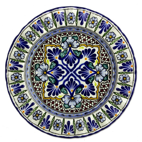 Handmade Glazed Ceramic Serving Platter by Novica