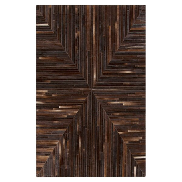 Horton Hand Woven Chocolate Area Rug by Union Rustic