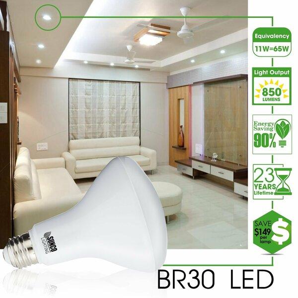 11W Frosted E26/Medium (Standard) LED Light Bulb (Set of 12) by Sunco Lighting