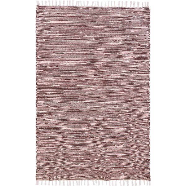 Bruges Flatweave Chenille Brown/White Area Rug by Bungalow Rose