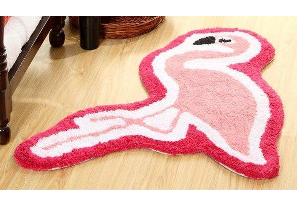 Dunecrest Flamingo Vibrant Children Bath Rug by Harriet Bee