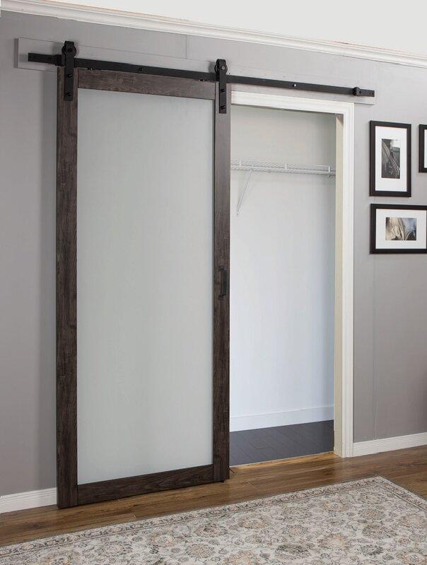Continental MDF Eingineered Wood 1 Panel Interior Barn Door