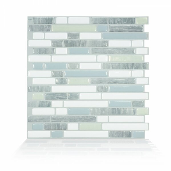 Costa 10 x 10.06 Peel & Stick Mosaic Tile in White & Gray by Smart Tiles