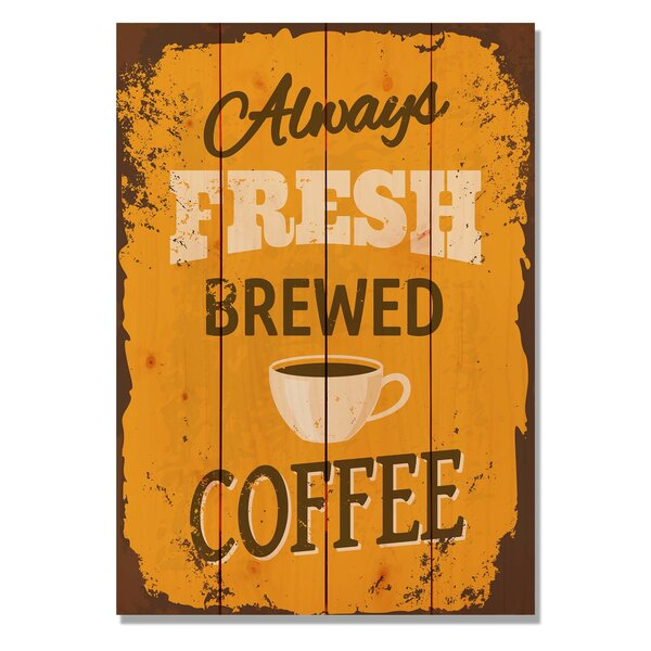4 Piece Wile E. Wood Always Fresh Brewed Coffee Vintage Advertisement Set by Gizaun Art
