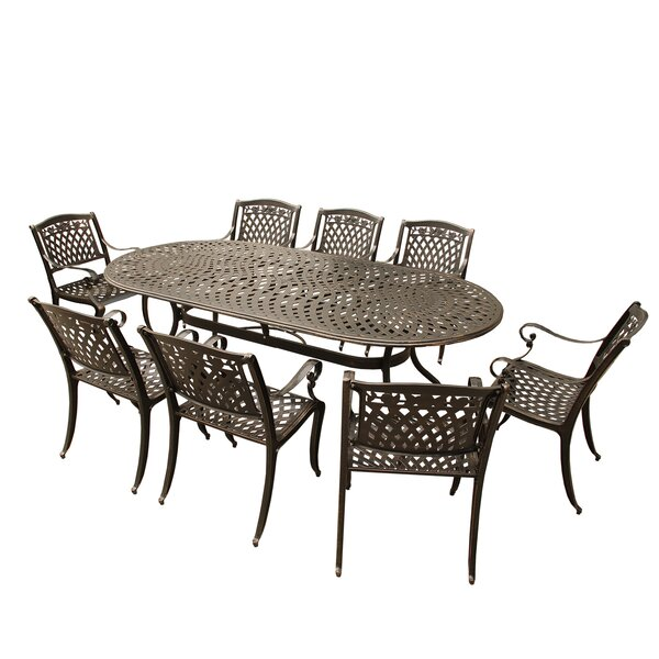 Slyvia 9 Piece Dining Table