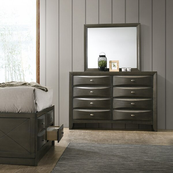 Carle 8 Drawer Double Dresser with Mirror by Red Barrel Studio